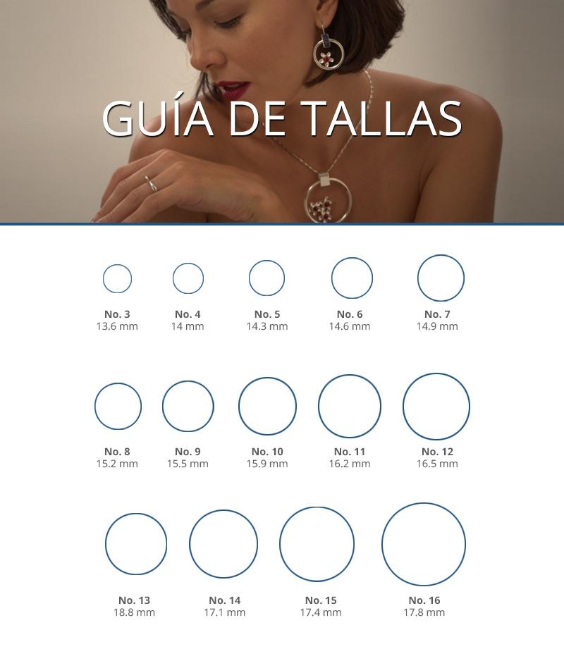 Guía de medidas de anillos